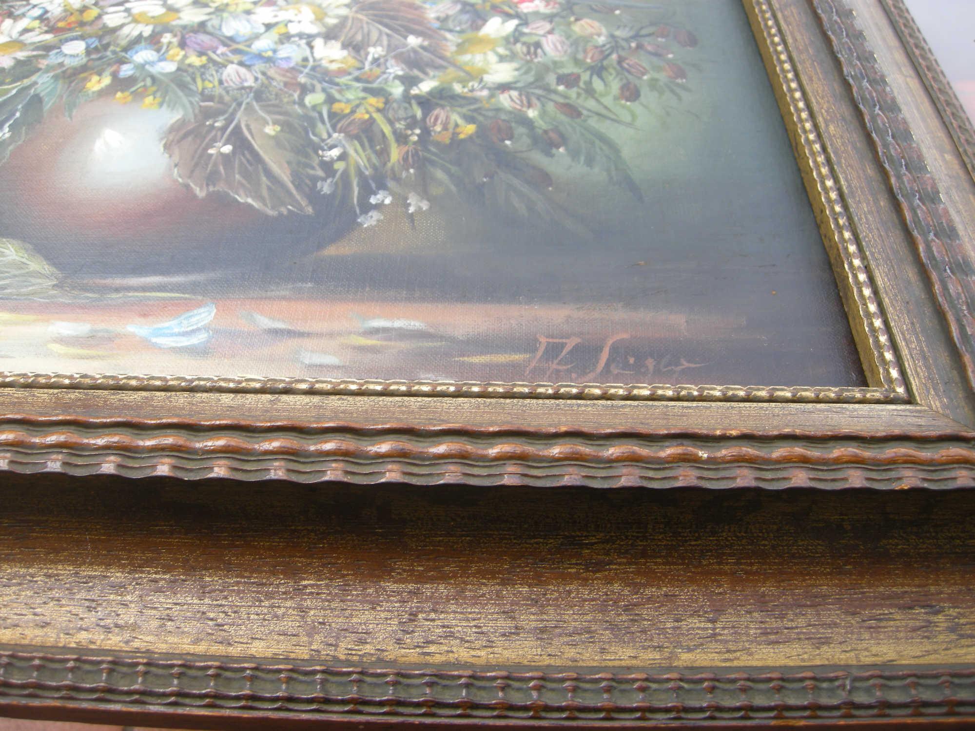 Kunst Malerei Wildblumen in Vase - A.Seger - Bilder Rünagel ...