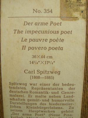 Druck-Spitzweg-Der Arme Poet-Text1-DSCN2249